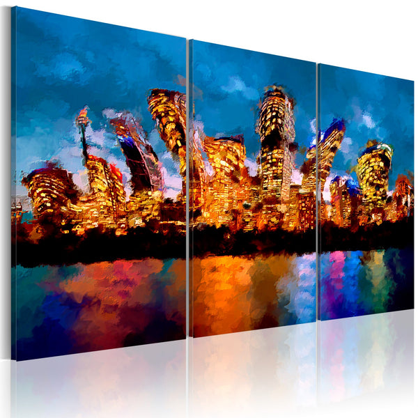 Quadro - Mad city - triptych