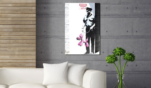Quadro - Police Guard Pink Balloon Dog by Banksy