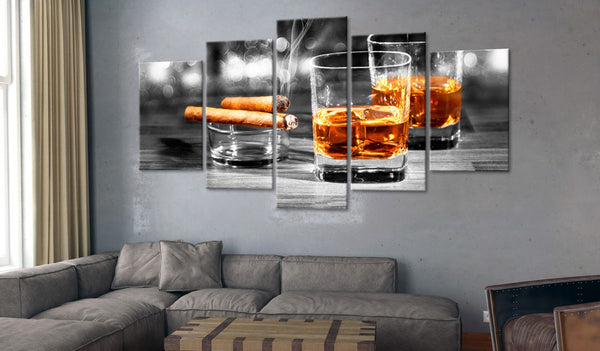 Quadro - Cigars and Whiskey (5 Parts) Wide