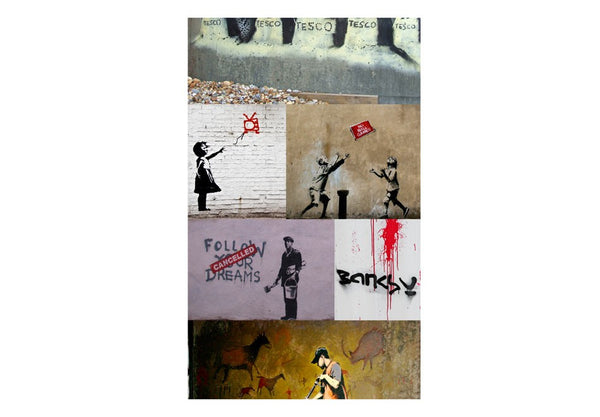 Fotomurale - Banksy - collage