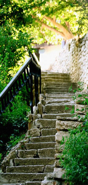Fotomurale per porta - Stony Stairs
