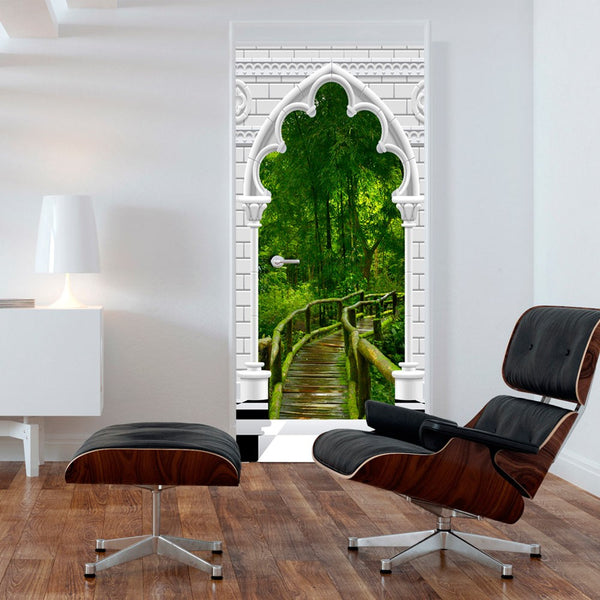 Fotomurale per porta - Photo wallpaper - Gothic arch and jungle I