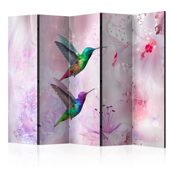 Paravento - Colourful Hummingbirds II [Room Dividers]