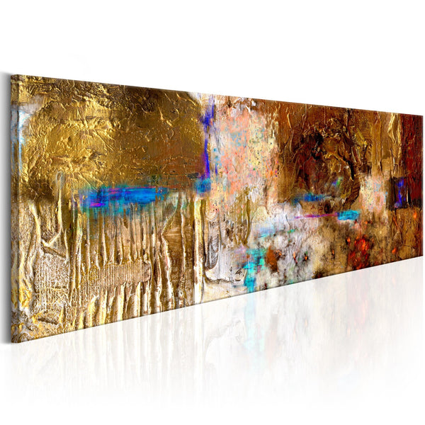 Quadro dipinto - Golden Structure