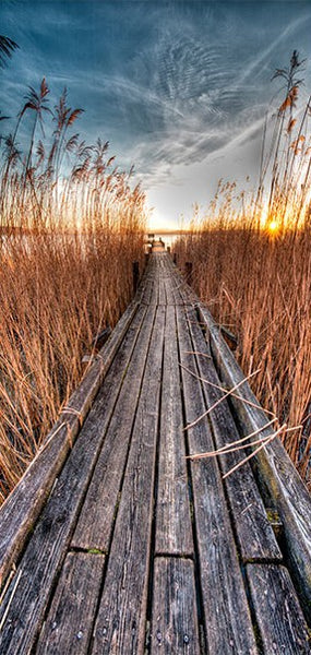 Fotomurale per porta - Photo wallpaper - Pier on the lake I