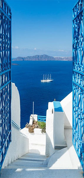 Fotomurale per porta - Holidays in Greece