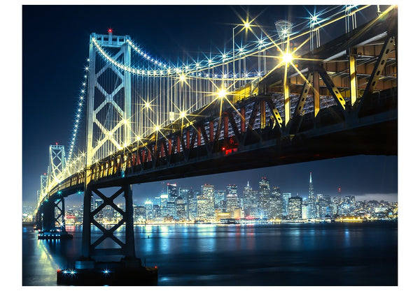 Fotomurale - Bay Bridge di notte