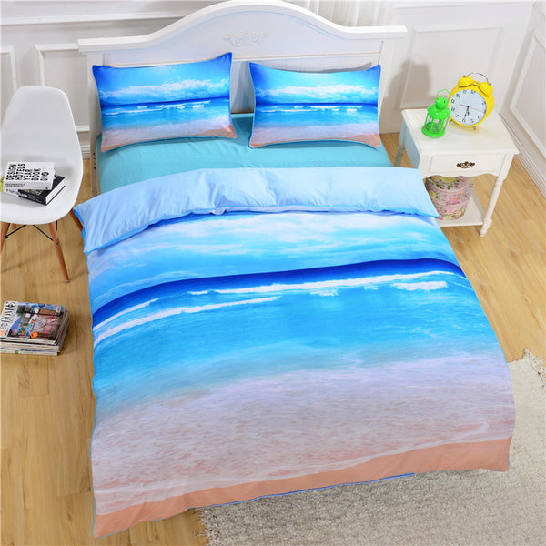 Lenzuola Starfish And Ocean Bedding Set Duvet Cover Set 3pcs Twin Queen King Size Bed Cover