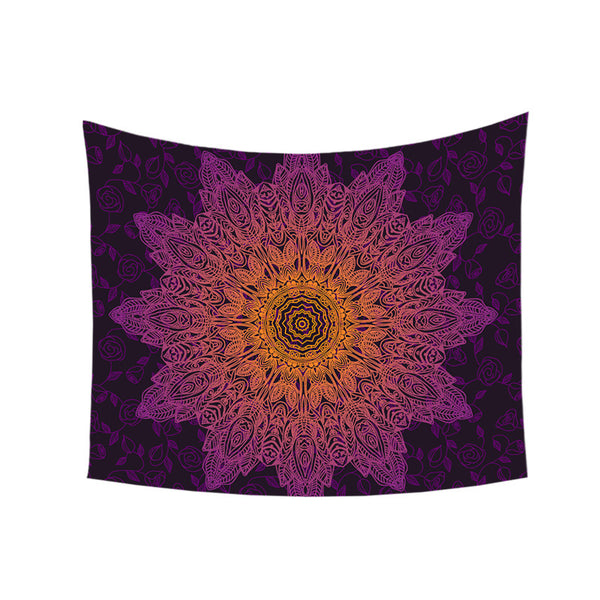 Arazzo Bohemian Flower Tapestry Gradient Purple Mandala Wall Carpet Bohemian Life Wall Sheet 130x150 150x200 Hot Sale