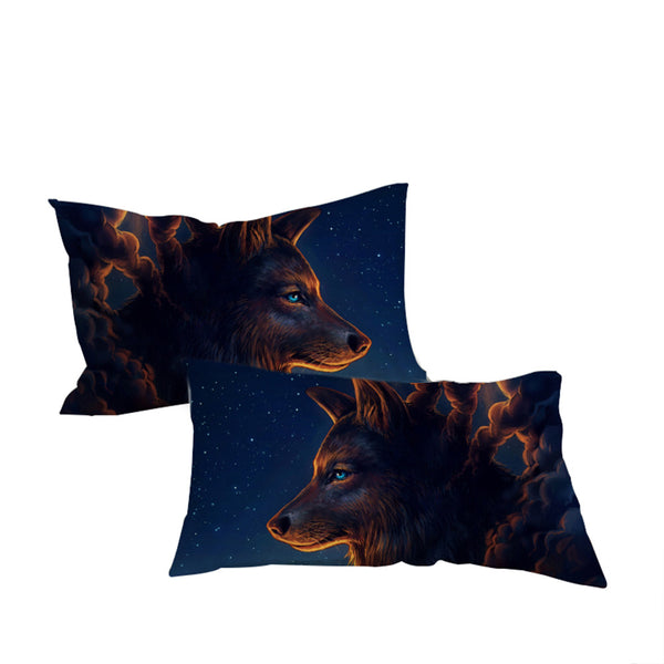 Federe Night Guardia by JoJoesArt Pillowcase Wolf And The New Moon Pillow Case Bedding Home Textiles Pillow Cover 2pcs