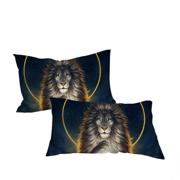 Federe Soul Keeper by JoJoesArt Pillowcase Lion God In The Sky Pillow Case Golden Bedding Home Textiles  Pillow Cover 2pcs