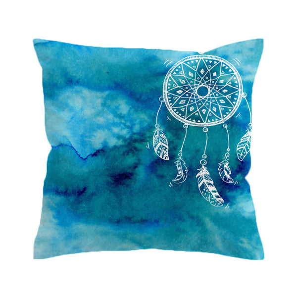 Cuscino Watercolor Cushion Cover Dreamcatcher Pillow CaseThrow Cover Decorative Pillow Covers for Sofa Bed