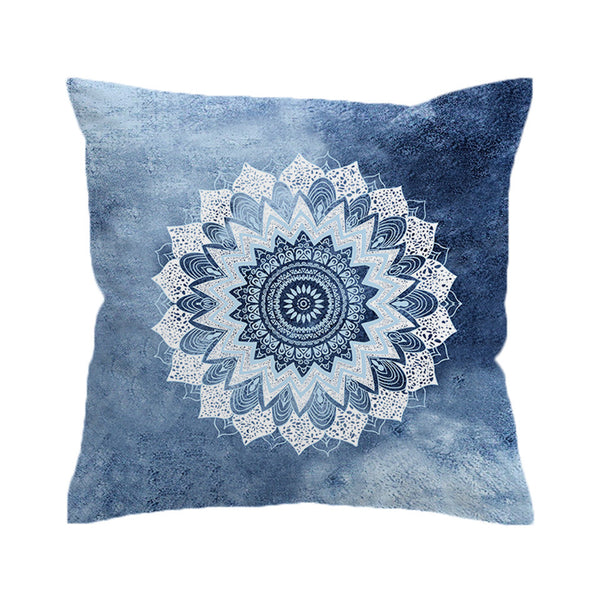 Cuscino Vintage Cobalt Mandala Cushion Cover Hippie Gypsy Bohemian Floral Pillow Case Paisley Cover