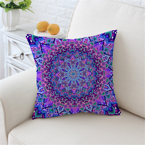 Cuscino Glowing Mandala Cushion Cover Boho Pillow Case Soft Throw Cover