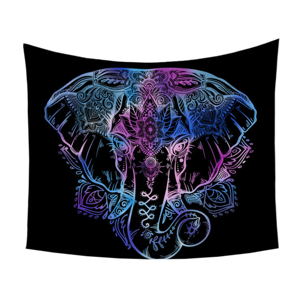 Arazzo Elephant Tapestry Animal Printed Wall Hanging Bedclothes Indian Boho Home Decor Picnic Mat Bohemian Bedspread