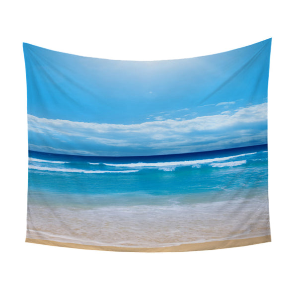 Arazzo Beach Tapestry Sea Printed Wall Carpet Home Hanging Wall Tapestries Picnic Sheet