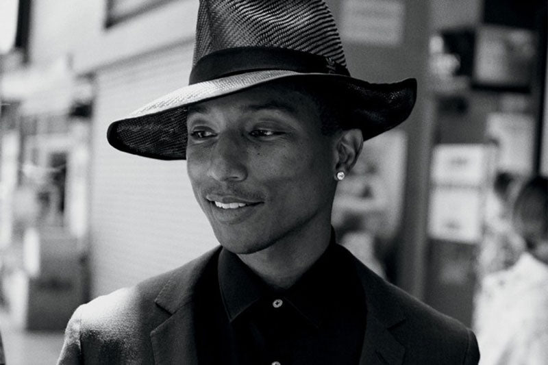 Pharrell Willams wearing a fedora. (Photo credit: Peter Lindbergh)