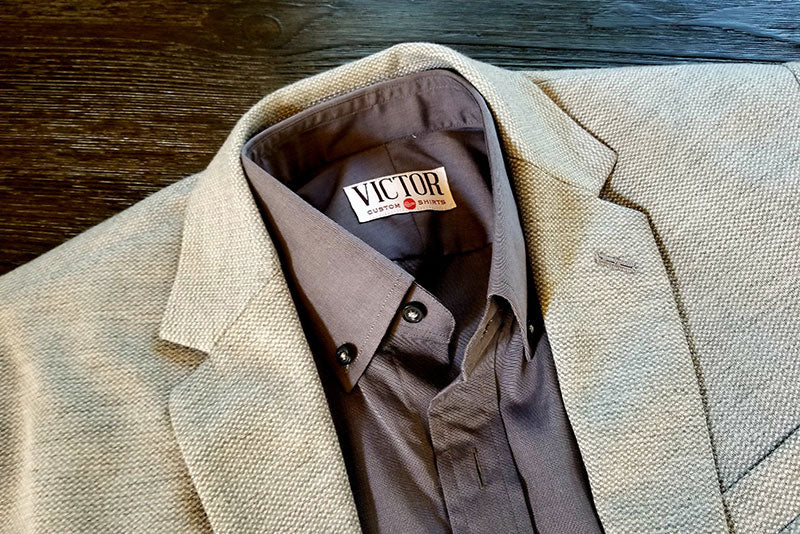 Custom dress shirt with a soft sports jacket