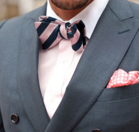 Pink and Blue Striped Bow Tie (Photo credit: artofmanliness.com)