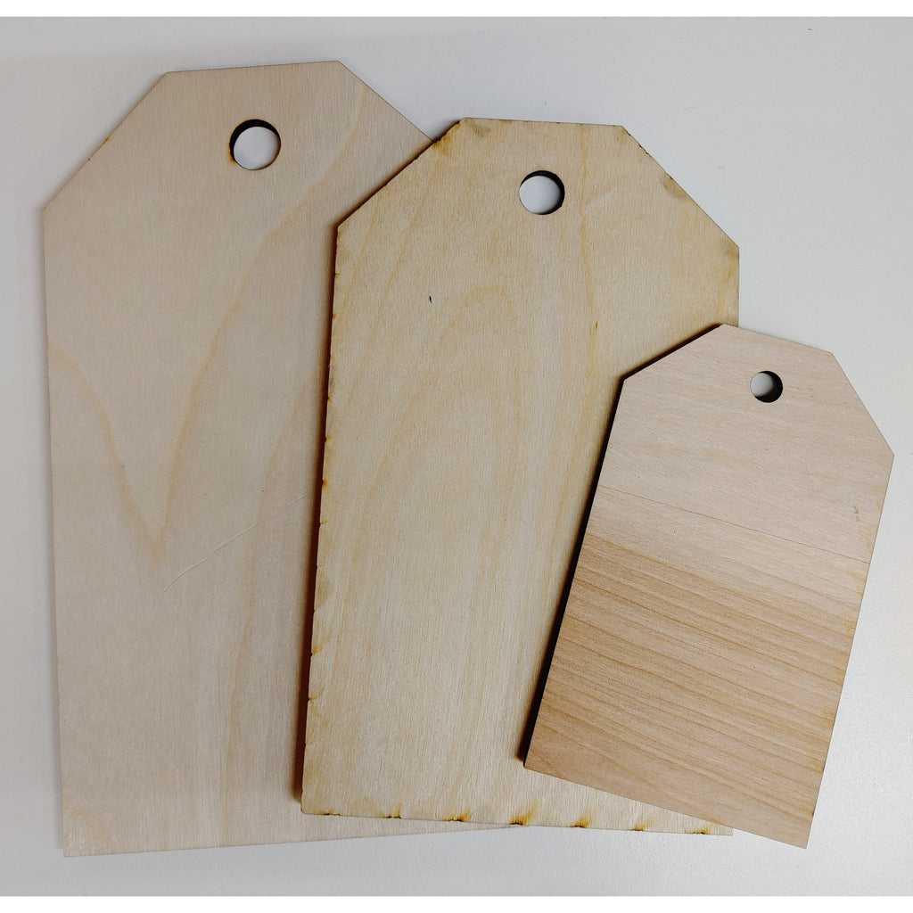 Wooden - Tags - Set of 3