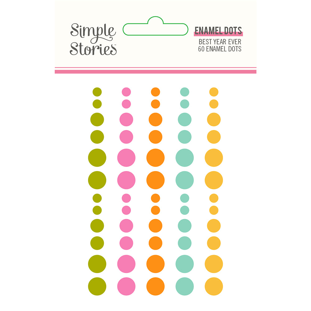 Simple Stories Best Year Ever Enamel Dots