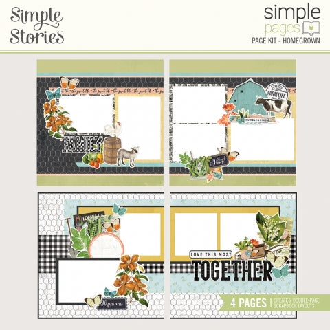 Simple Stories - Simple Vintage Farmhouse Garden - Simple Pages Page Kit - Homegrown