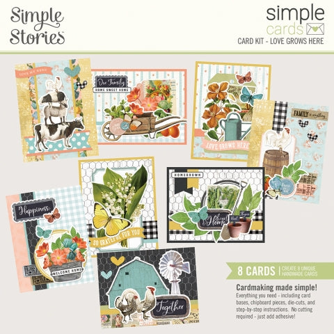 Simple Stories - Simple Vintage Farmhouse Garden - Simple Cards Card Kit - Love Grows Here
