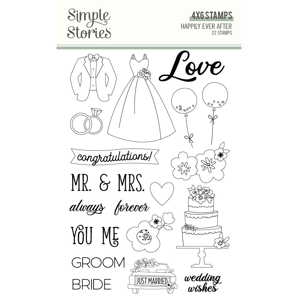 Simple Stories - Happily Ever After - Stamps