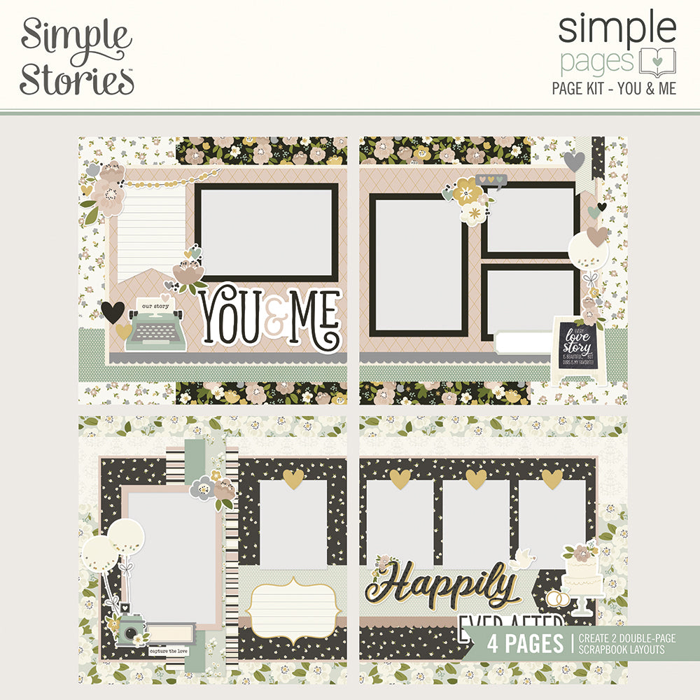Simple Stories - Happily Ever After - Simple Pages Page Kit - You & Me