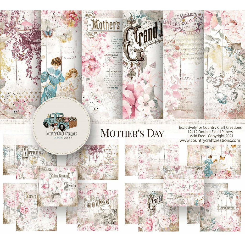 Country Craft Creations - Mother's Day 8x8 - 30 Sheets / collection - Pre Order