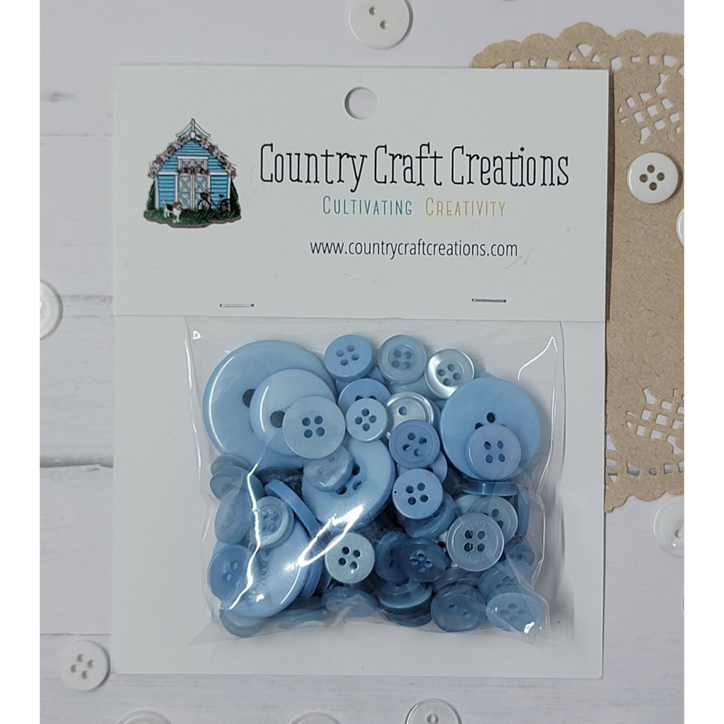 Buttons - Granny's Craft Buttons - Powder Blue