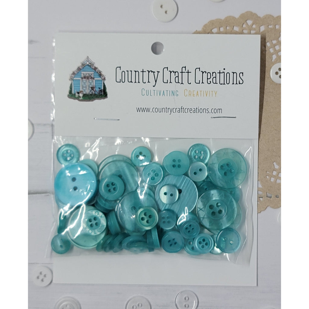 Buttons - Granny's Craft Buttons - Gypsy Teal