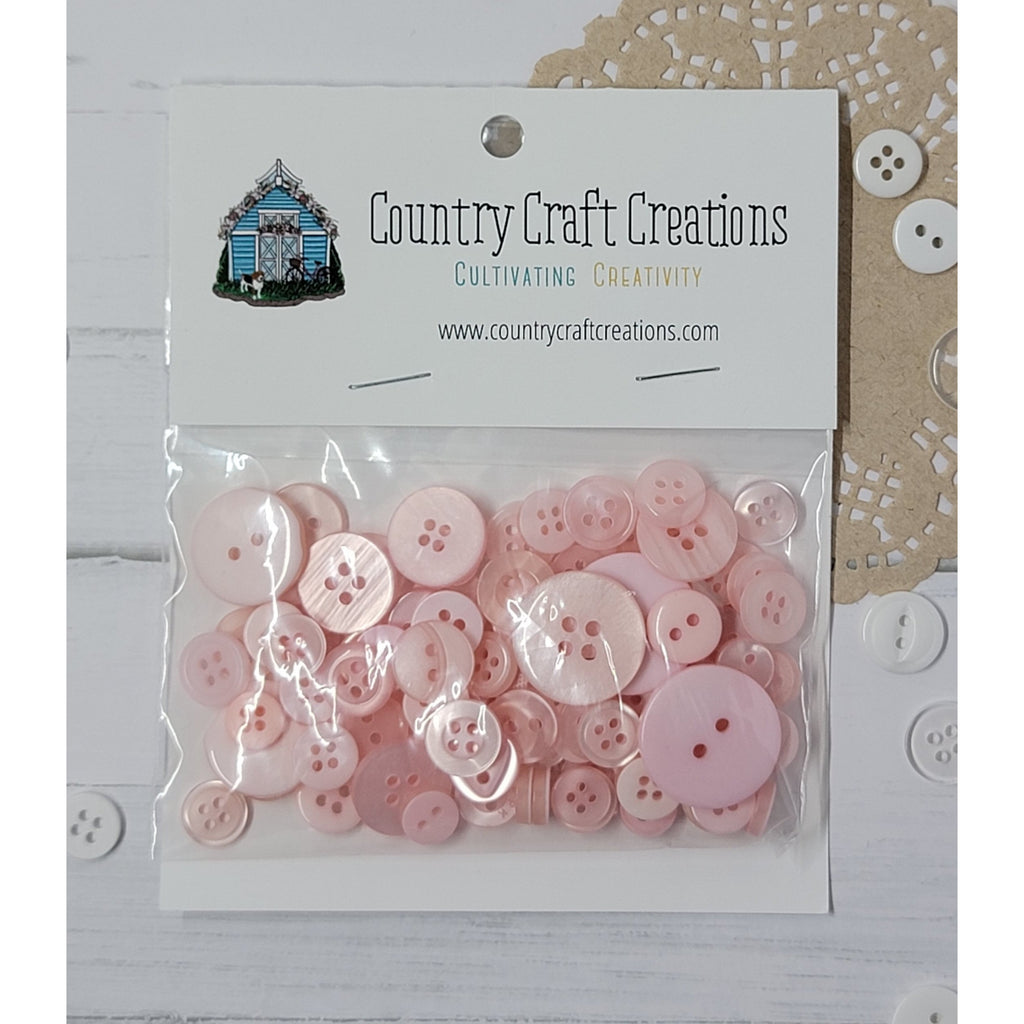 Buttons - Granny's Craft Buttons - Apple Blossom