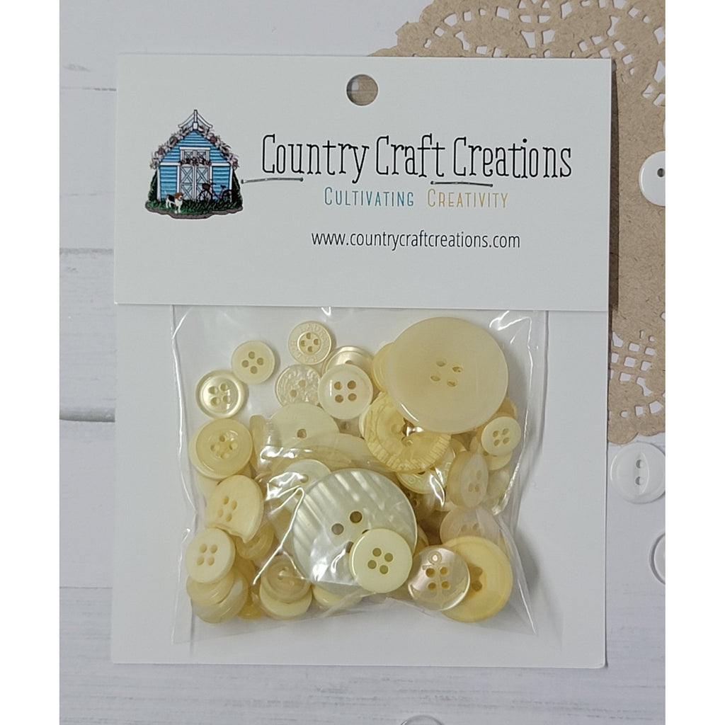 Buttons - Granny's Craft Buttons - Porcelain Beige