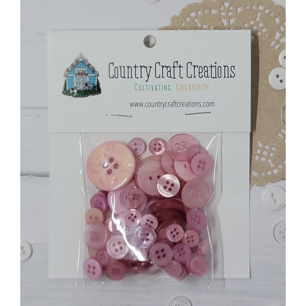 Buttons - Granny's Craft Buttons - Rose Taupe
