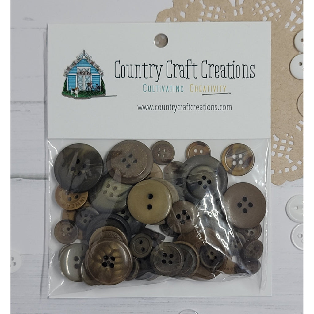 Buttons - Granny's Craft Buttons - Brown Bear