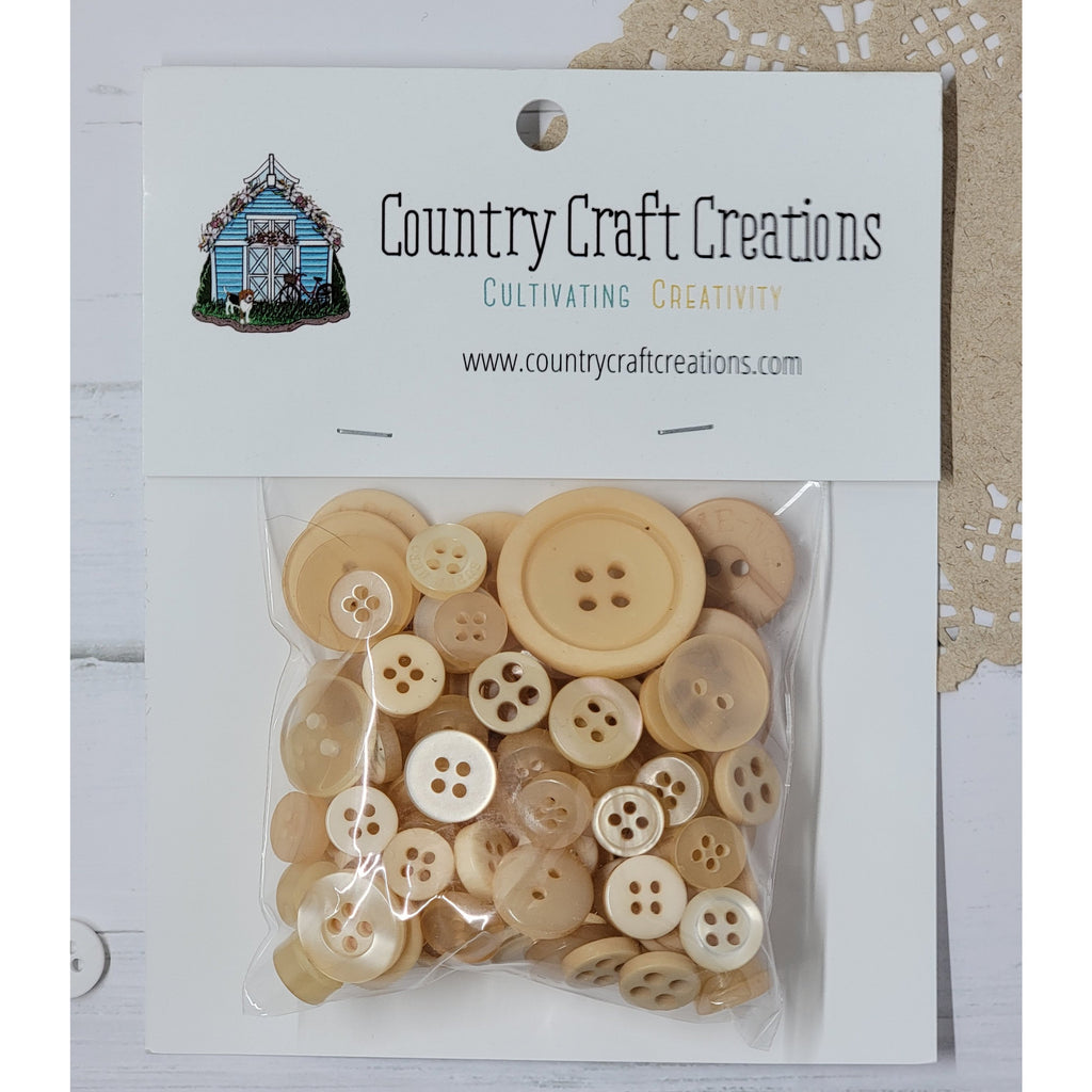 Buttons - Granny's Craft Buttons - Butter Rum