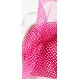 Sheer Polka Dot Ribbon Pink - Sold by the Yard