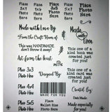 Place Photo Stamp Here Acrylic Stamp Set - US SHIPPING