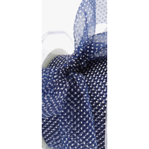 "Ribbon - 2"" Sheer Polka Dot / Navy"