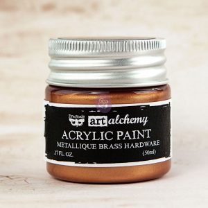 Prima - Art Alchemy - Acrylic Paint - Metallique Brass Hardware