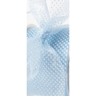 "Crimped Edge Sheer Ribbon / 3/8"" Light Blue - Sold by the Yard"