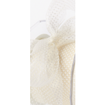Sheer Polka Dot Ribbon Ivory - Sold by the Yard