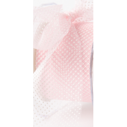 Sheer Polka Dot Ribbon Light Pink - Sold by the Yard