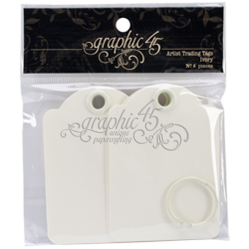 G45 Artist Trading Tags - Ivory