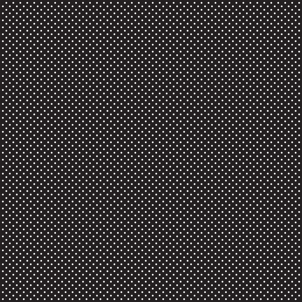 Carta Bella Dots 12 x 12 Sheet / Black Dots
