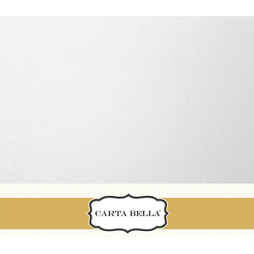 Carta Bella Shimmer White Cardstock 12 x 12 Single Sheets
