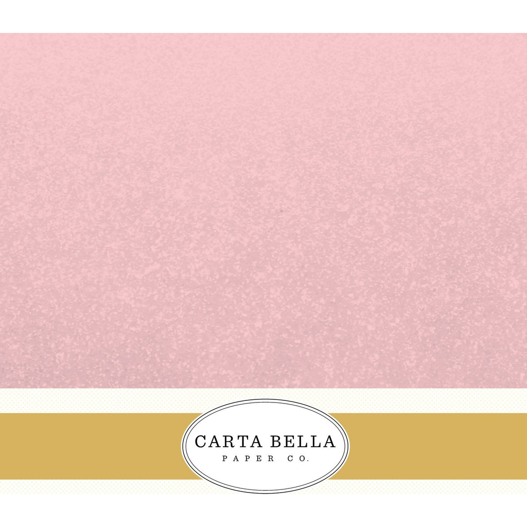 Carta Bella Shimmer Blush Cardstock 12 x 12 Single Sheets