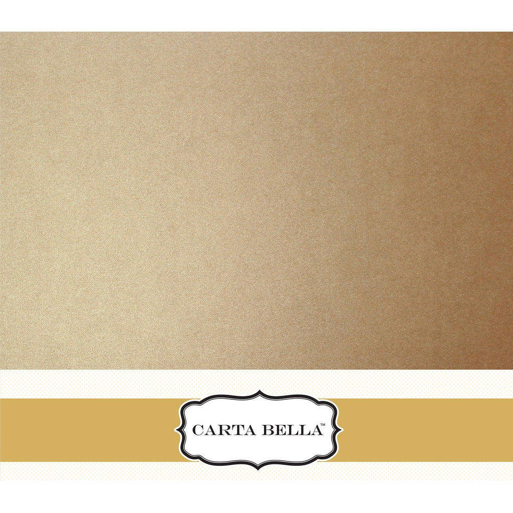 Carta Bella Shimmer Caramel Cardstock 12 x 12 Single Sheets