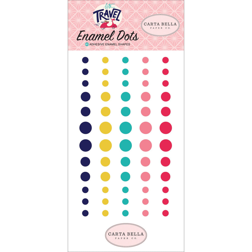 Carta Bella Let's Travel Enamel Dots